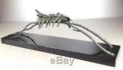 1920/1930 A. V. Becquerel Rare Statue Sculpture Art Deco Bronze Animalier Oiseaux