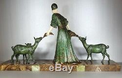 1920/1930 Dh. Chiparus Rare Statue Sculpture Chryselephantine Ep. Art Deco Femme