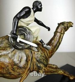 1920/1930 E. Drouot Rare Supb Statue Sculpture Art Deco Orientaliste Dromadaire