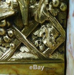 1920/1930 R Varnier Rar Paire Serre-livres Statue Sculpture Art Deco Bronze Dore