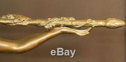 1925 statue sculpture art déco danseuse Le Faguays bronze 6 kg54cm rare chic