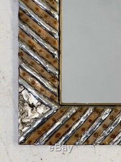 1970 Fitterman Miroir Sculpture D'artiste Art-deco Moderniste Shabby-chic