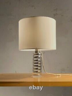 1970 Giraudon Lampe Inclusion Sculpture Shabby-chic Lucite Plexiglas Cinetique