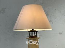 1970 LAMPADAIRE PHARE MARINE ART-DECO MODERNISTE SHABBY-CHIC SCULPTURE Adnet