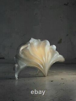 1970 Laurent Rougier Lampe Sculpture Shabby-chic Lucite Plexiglas Psychedelic