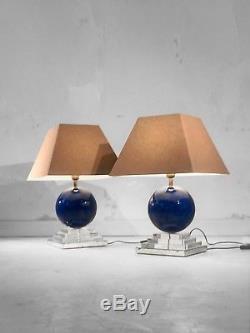 1970 Mahey 2 Lampe Sculpture Moderniste Bauhaus Space-age Resine Fractale Lucite