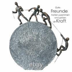 79125 Sculpture Levage de Poly Finition en Bronze Hauteur 35,5 CM Largeur 31,5