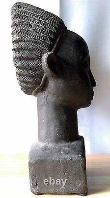 Africanisme grande sculpture en terre cuite travail époque Art Déco