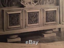 Albert Guenot Meuble Argentier Art Deco 1940 Vitrine Design Moderniste Sculpture