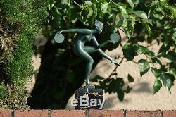 Alexandre Joseph Derenne Une Danseuse Nue Aux Cymbales Art Deco Sculpture