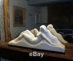 Amédéo GENNARELLI Femme allongée Sculpture en marbre de Carrare Art Déco