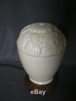 Ancien lampe veilleuse art deco 1920 sculpture floral antique vintage lamp woman