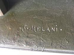 Ancien plâtre ART DECO RARE Sculpture de SALVATORE MELANI (1902 1934)