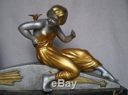 Ancien sculpture femme art deco 1930 VAN DE VOORDE statue antique figurine woman