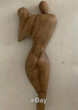 Ancienne Et Grande Sculpture Cubiste 1940/50 Ecole Russe