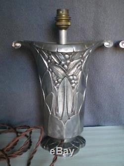 Ancienne paire de gros pied de lampe art deco 1930 antique sculpture lamp statue