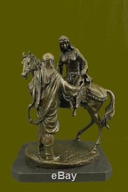 Arabe sur un Cheval par Mene sculpture statue bronze 16 kg Figurine Art Deco