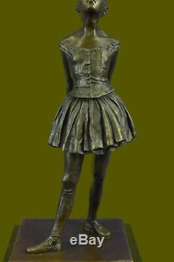 Art Déco Nouveau Ballerine Prima Bronze Danseuse Sculpture Figurine par Degas