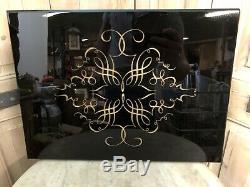 Art Deco Plaque Décorative Marbre ou Opaline Noir Moderniste Sculpture