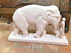 Art deco sculpture, Éléphant Stef, Craquelé, éléphant craquelé art deco