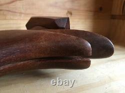 Art déco superbe sculpture d'un toucan en acajou, hauteur 24 cm