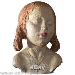 Ary Bitter, Sculpture Originale En Terre Cuite Emaille. Probablement Realisee Av
