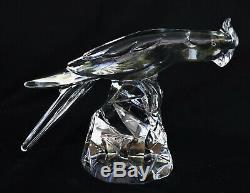 BACCARAT & Georges CHEVALIER Sculpture Perruche Cristal Art Déco ca 1930