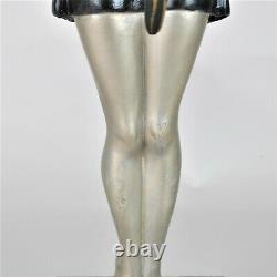 Balleste, femme au perroquet, sculpture signée, art déco, XXème siècle