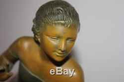 Belle Sculpture en Régule signée URIANO Art déco