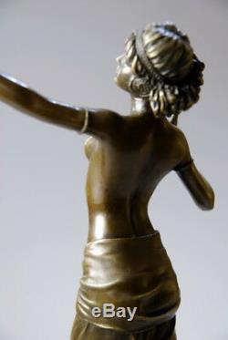 Belle sculpture Art Déco en bronze signée Preiss envoi gratuit