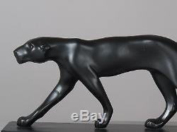 Belle sculpture panthère Art Déco en régule, époque 1930 de M. Font