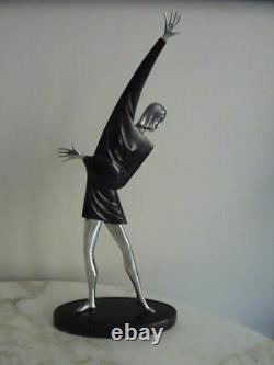 Belle statue sculpture Femme Art Déco Russe