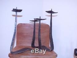 Bougeoir ancien fer forgé art deco moderniste a identifier loft chic sculpture