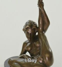 Bronze Érotique Sculpture Nude Art Sex Statue Signé Déco Marbre Figurine