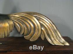 Bronze Style Art Déco Coq De Bruyère Sculpture Animalière Ancienne