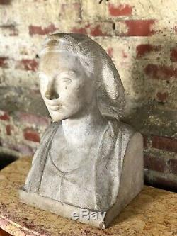 Buste de femme Pierre taillée époque Art Déco signé Firmin MICHELET