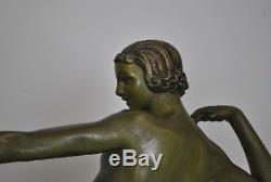 Chasse Aux Antilopes, Sculpture Art Déco XXème Siècle