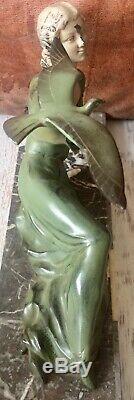 Chryséléphantine Art Déco 1930 Limousin Sculpture régule patine bronze marbre
