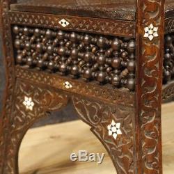 Colonne bois meuble table basse salon nacre style ancien étagère 900 sculpture