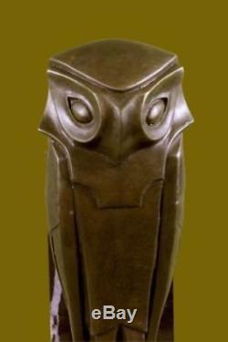 Cubism Sculpture Oiseau Dali Hommage Art Base en Marbre Moderne Déco T