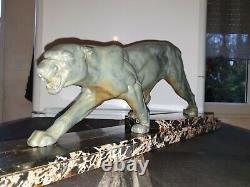 D. H Chiparus sculpture art deco panthère