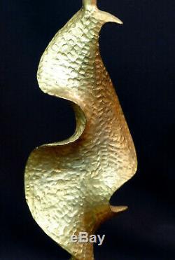 D Pied de lampe art contemporain design De Waël Fondica bronze doré 34cm3kg déco