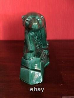 Dax Sculpture Céramique Art Déco Craquelé Ours Polaire