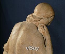 Diane, Sculpture Terre Cuite, Laveysse, Susses Frères, Art Déco statue Ancien