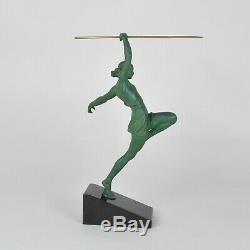 Fayral, Amazone au javelot, sculpture Art déco, XXème siècle
