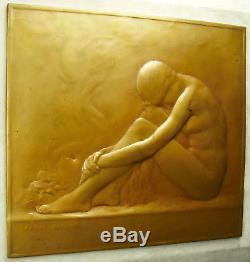 Femme nue assise Rome 1913 Raoul Benard Susse Frères sculpture art déco 4kg 32cm