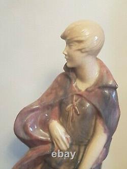 GERMAINE GRANGER Sculpture Femme ART DECO Craquelée signée