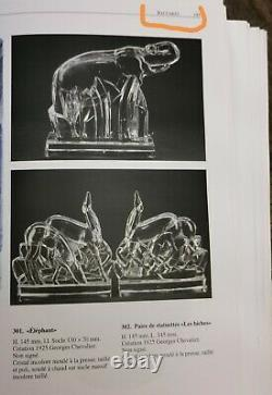 Georges CHEVALIER, & BACCARAT. Éléphant sculpture en cristal taillé, 1925