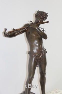 Grande Sculpture Bronze l'improvisateur Signee Felix Charpentier 1890