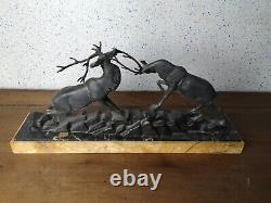 Grande sculpture art déco signé i. Rochard